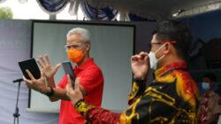 Gubernur Jawa Tengah Ganjar Pranowo saatme-launching Penerimaan Peserta Didik Baru. (Foto: Istimewa)