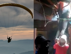 Kecelakaan di PON XX Papua, Atlet Gantole Sumbar Tersangkut di Atap Rumah Warga